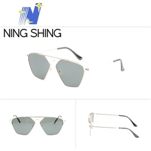 OEM Logo Cheap Price 2018 fashionable italian brand metal sunglasses