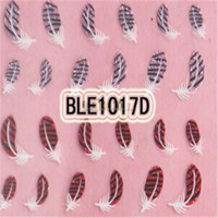 Colorful Feather 3D Nail Art Sticker Nail Decals