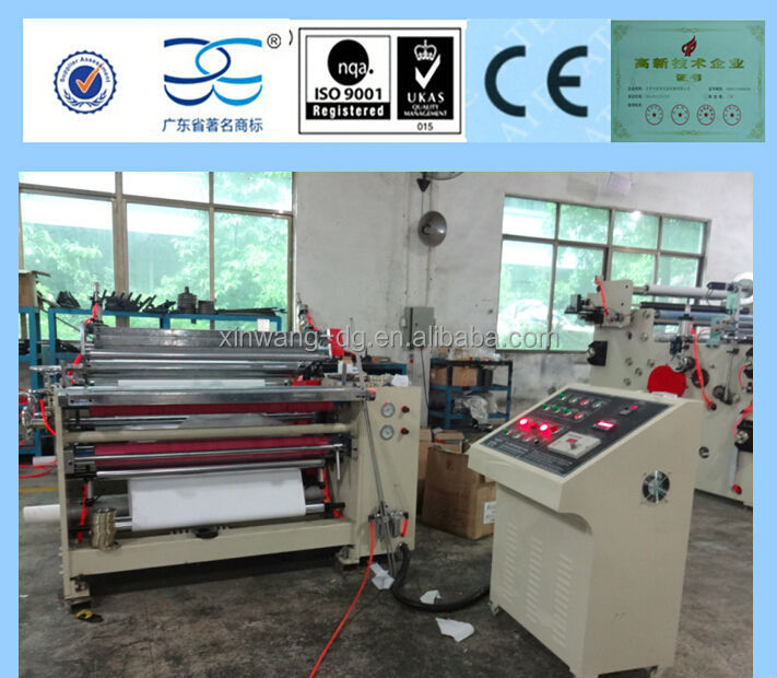 slitting and rewinding machine for cash paper