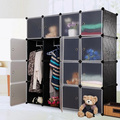 12 cubes High quality plastic folding wardrobe with emboss patterns (FH-AL0052-16)