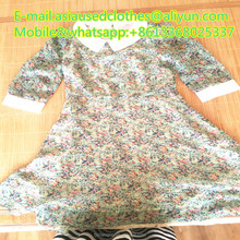 wholesale used clothing original with high qulity Lady T-shirt dress