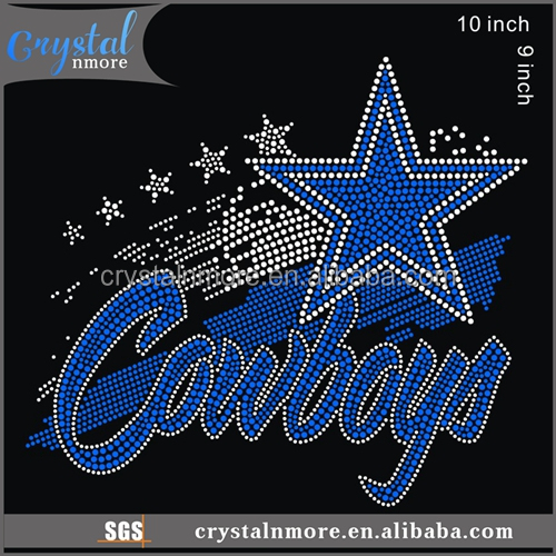 Iron On Cowboys Rhinestone Transfer Designs for t shirt
