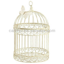 Metal handmade wire white decorative bird breeding cages from china cheap