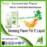 Herb flavors for e cig liquid, concentrated flavor add in pg or vg solvent, Ginseng e liquid flavor