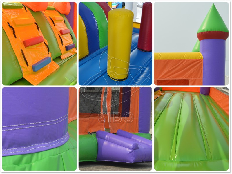 Inflatable Bouncy Castle Slide With Jumping House For Kids Climbing