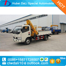 4x2 Hydraulic telescopic 3 ton crane truck with good price
