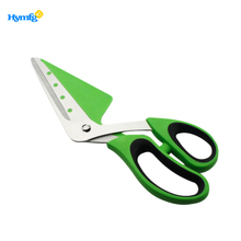 Muti function stainless steel with rubber soft TPR handle pizza scissors
