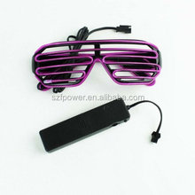 LED Shutter party glasses flashing el wire sunglasses, Glow In The Dark Party Sunglass