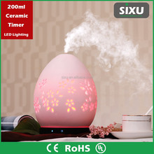 Multi-function aroma stream electronic pottery aromatherapy humidifier