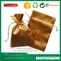 China factory wholesale large drawstring satin bags hair