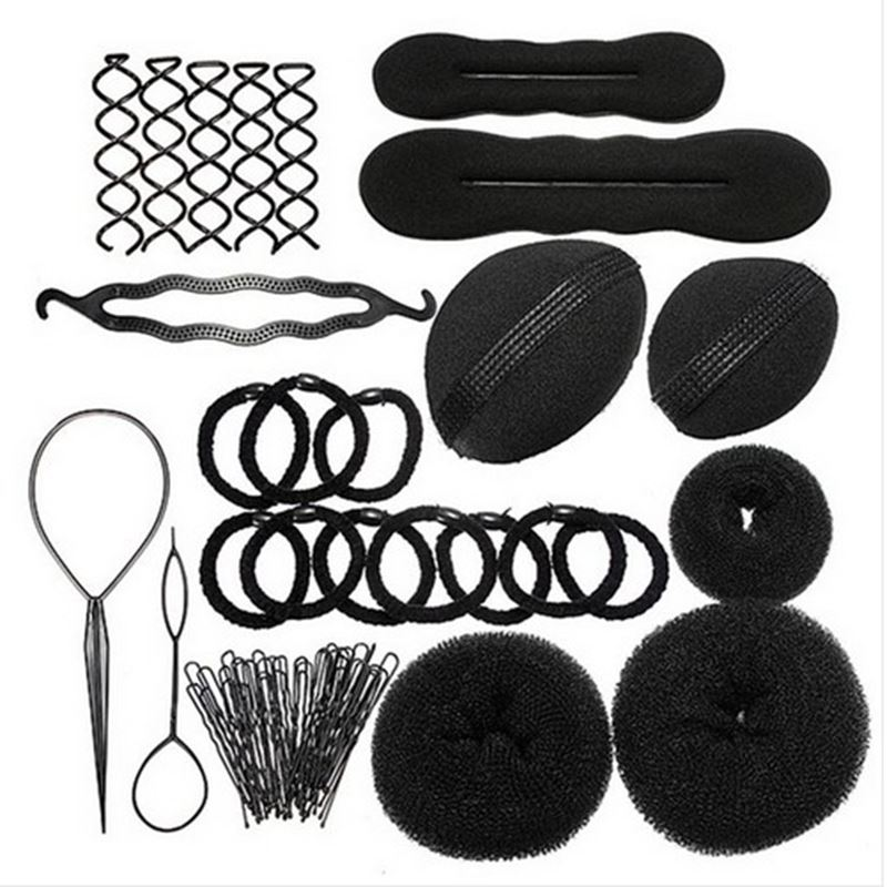 1 package hair clip tool reel braid twist tool accessories for the styling tools kit set #TH0154