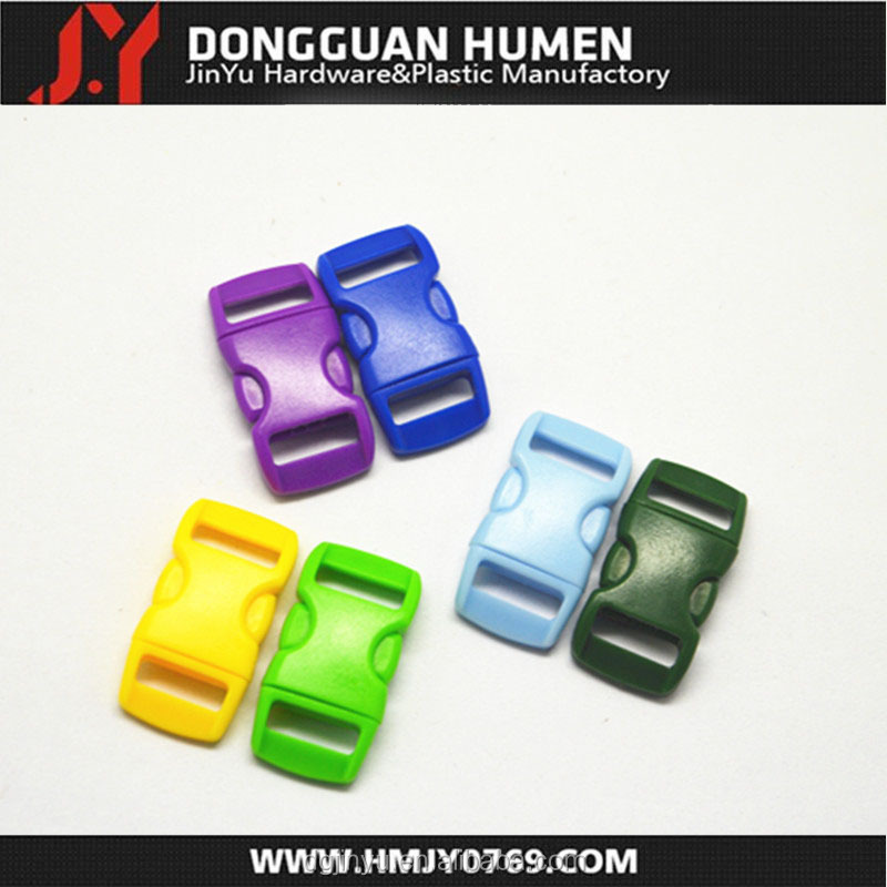 Popular small colored dog collar buckle curved type buckle