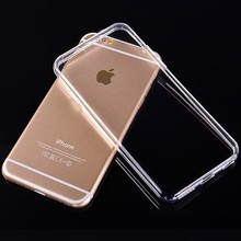 Hot selling Ultra thin transparent 0.3mm TPU case for iPhone 6 / 6 Plus/5 5S/ 4 4S