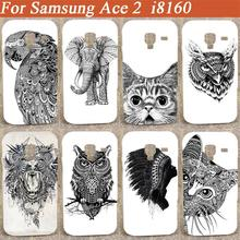 New Cartoon lovely black and white animals desing hard Case Cover For Samsung Galaxy Ace 2 II i8160 diy colorful pattern case