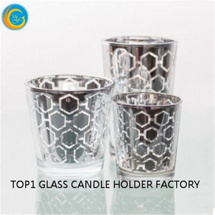 Manufacturer high quality glass candle holder