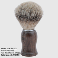 Good quality cosmetic makeup brush SV-332 beard shaving brush synthetic cheap shaving brush