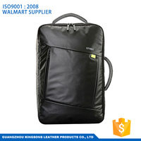 Kingsons Brand Fashion Lightweighted Black School Bag Business Bag 15.6 Inch Laptop Leather Backpack Men for Asus for Lenovo