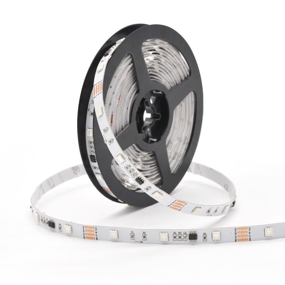 OEM quality cuttable DC12V 30 pixel breakpoint dream 7.2w/m color digital addressable rgb led strip
