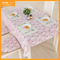Wholesale flower and cat printed rectangular dining restaurant home decor coffee table cloths