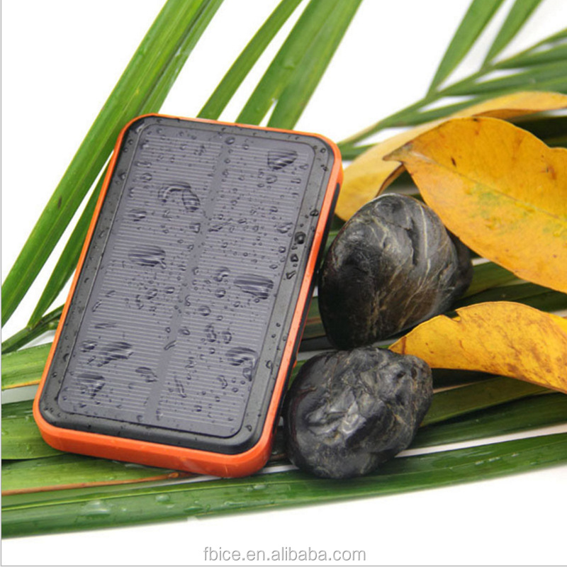 factory wholesale new product 20000mah solar powerbank waterproof dust proof rock proof powerbank