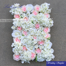 light pink and white rose and hydrangea wedding decoration gate flower wholesale