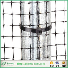 Black plastic BOP nets polypropylene mole fence netting /PP stretched playground covered fence mesh in factory