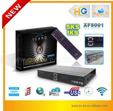 Factory price Full HD Digital Receiver icaro xf5001 dvb-s dvb-s2 twin tuner with iks and sks for south america