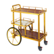 Gold liquor trolley bar cart wine trolley