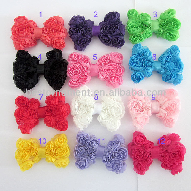 Flower Bowknot Alligator Clip <strong>Hair</strong> Bow <strong>Accessory</strong>