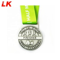 Souvenir Metal Crafts Die Casting UAE Medal With Ribbon