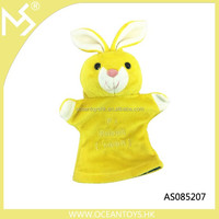 Easter toys lovely plush rabbit puppet glove animal paw glove