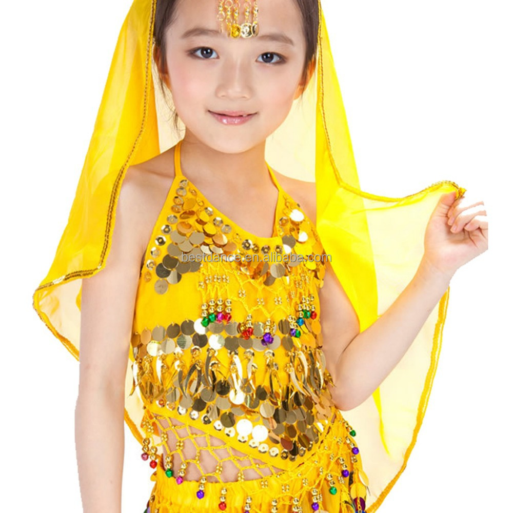BestDance children belly dance veil cheap bellydance head veil chiffon veil for girls OEM