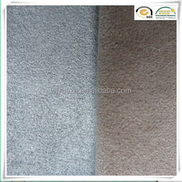 100 polyester tricot warp knitted suede fabric for shoes <strong>materials</strong>