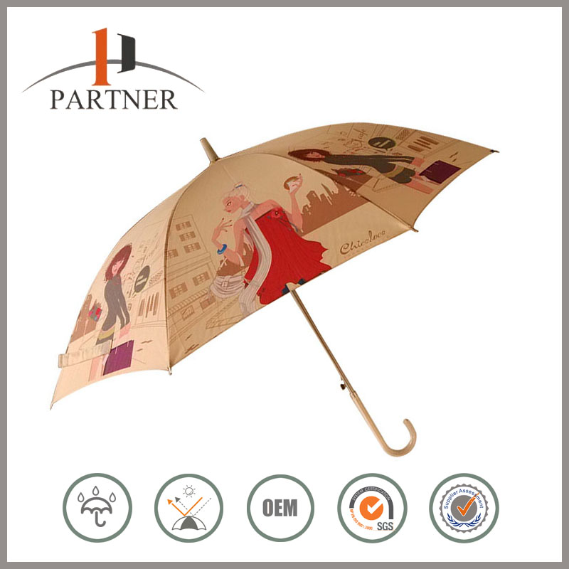 Factory Price Beautiful Girl Pictures Printing Waterproof Hydrophobic Umbrella