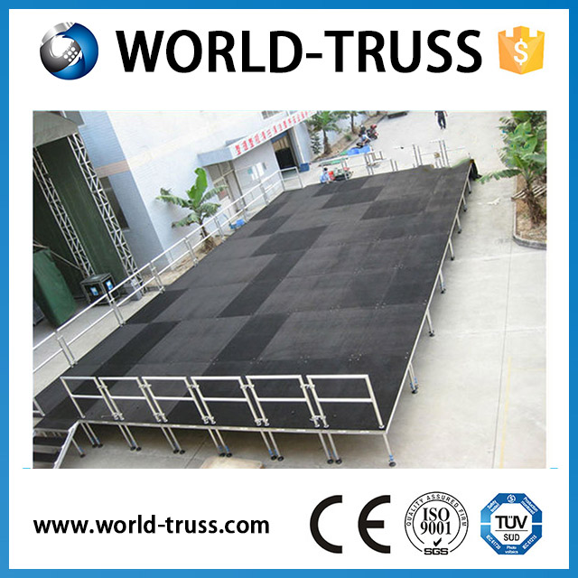 Aluminum truss stage, mobile stage platform with CE TUV