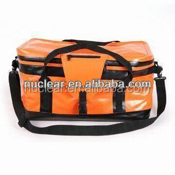 customized waterproof bag, soft tarpaulin for duffel bag