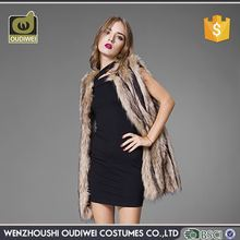 Latest Arrival simple design fur coat for women from China