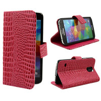Stand case with leather wallet cover case for samsung galaxy s5 i9600 cell phone case