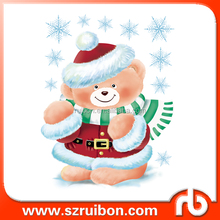 Custom Vinyl Christmas stickers Bear sticker for window decoration window decal
