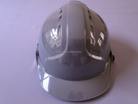 CE approved function of safety helmet gray/grey color buckle ABS with vents