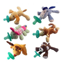 New Design Cute Plush Toy Pacifier Baby Dog Toy With Nipple