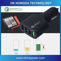 Quick ChargeTM 2.0 Technology Phone Car Charger 5V 2A / 9V 2A / 12V 1.5A