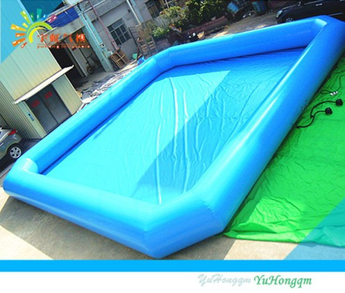 Cool Inflatable Water Swimming Pool Pvc Tarpaulin Inflatable Water Pool For Family