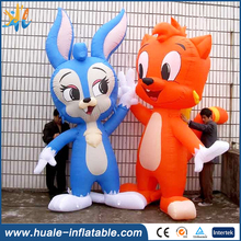 Giant Inflatable fox and rabbit Character, Customized Inflatable Cartoon