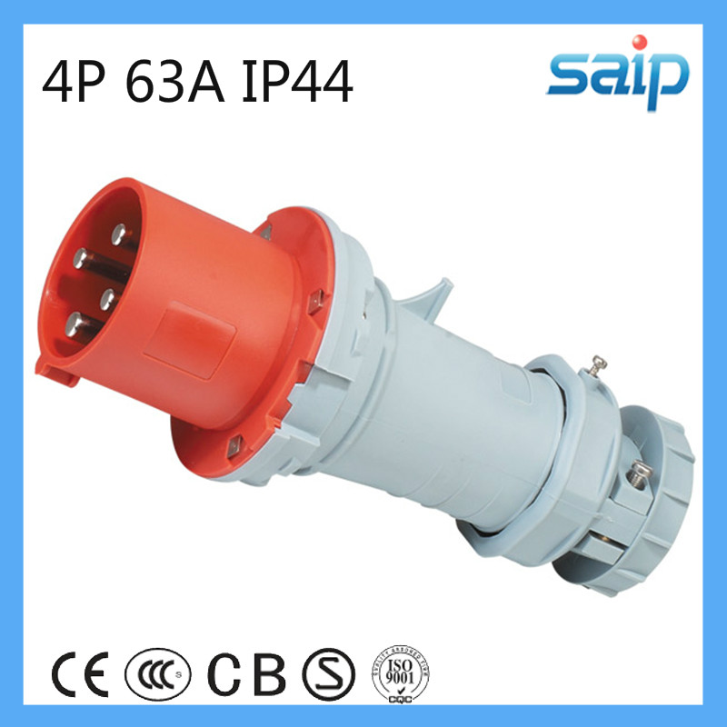 400V 63A Lighted Male Electrical Plug (SP1231)