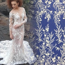 2019 high quality popular polyester <strong>embroidery</strong> <strong>lace</strong> for wedding dress