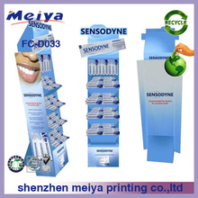 Supermarket 5 Layers Cardboard Revolving Floor Toothpaste Display Stand,Promotional Toothpaste Displays