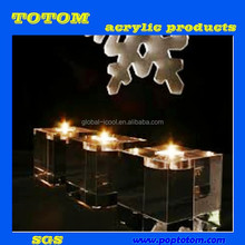 POP clear acrylic lucite candle holders
