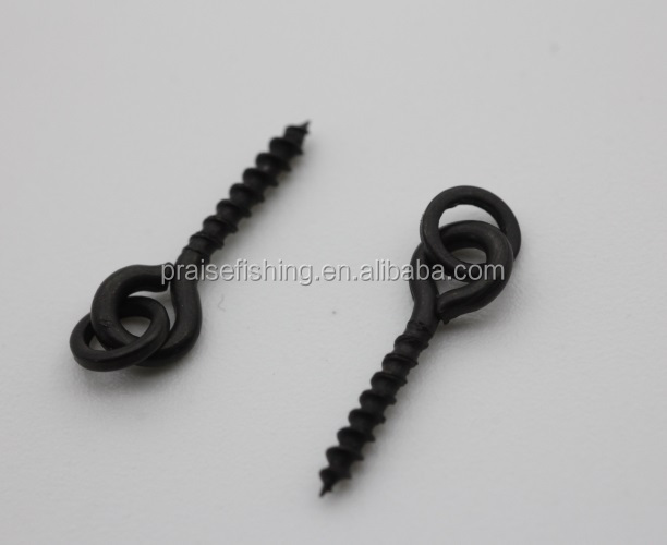 Boilie Ring Bait Screw Peg for Carp Fishing Mett Black 13mm Steel Screw Peg Terminal Tackle