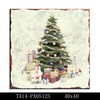 Hot sale famous custome christmas tree home decorative wall hanging art painting canvas for decor